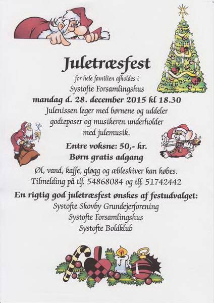 Systofte Juletræsfest 2015